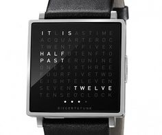 QLOCKTWO W | Geek&Hype #time #watch #clock #montre #typo