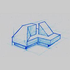 My Visual Graveyard - k d v s #abstract #design #illustration #drafting #blue