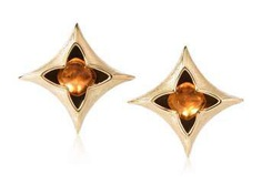 Philippe Pfeiffer Mandarin Garnet Earrings