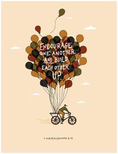 print by Leslie Hill #lettering #balloons #illustration #bike #type #typography