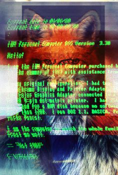Fox, surreal #computer #fox #hipster #glitch #vintage #art #poster #abtract #surreal