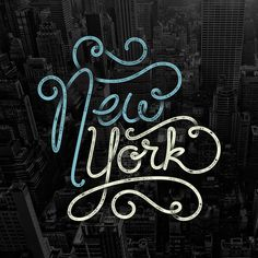 New York, type, hand lettering, city