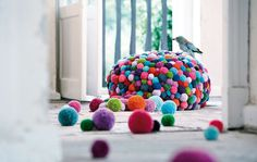 Bommel collection - Pompon by Myra Klose - www.homeworlddesign. com (8) #furniture #design #pompons #carpets