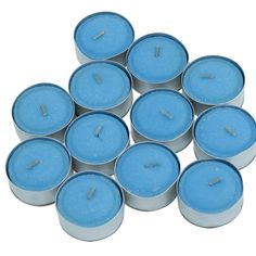 Lotus Flower & Topaz Water Scented Tea Light Candles, Pack of 12