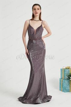 eDressit Purple Spaghetti Sparkle Elegant Party Prom Dress (02202306)