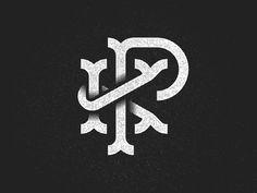 PK Monogram #mark #texture #monogram #brand #identity #logo