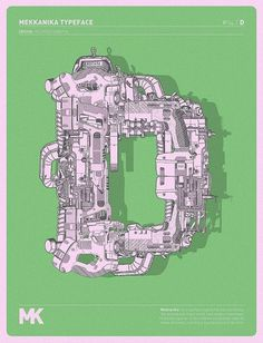 MEKKANIKA on the Behance Network #typography