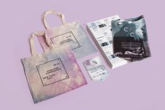 Curators Conference Branding Identity | RoAndCo Studio #canvas #card #bag #collateral