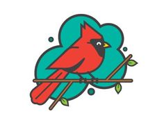 Ricky Linn #icon #logo #illustration #bird