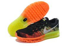 Nike Air Max Mens Shoes Flyknit Orange Silver