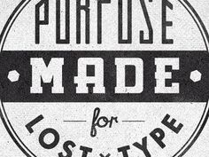 Dribbble - Losttype Badge2 Cut by Richie Stewart #type #logo