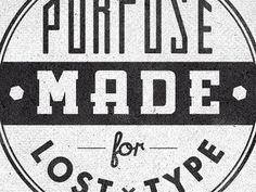Dribbble - Losttype Badge2 Cut by Richie Stewart