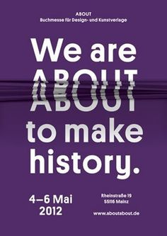 ABOUT — Independent Publishing Fair. 4-6 Mai in Mainz, Germany #purple #design #graphic #poster
