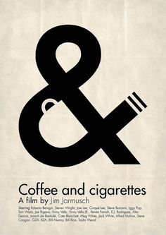 Coffee & Cigaretters #design #graphic #poster #typography