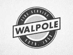Dribbble - Tire Service 2 by Jake Dugard #logo