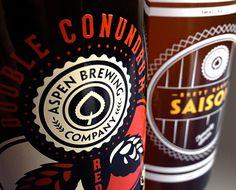 Aspen Brewing Company Packaging #packaging #beer #label #bottle