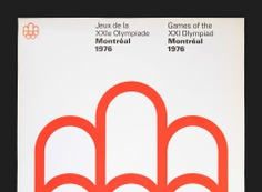Montréal Olympic Symbol Poster (White) - Canada Modern