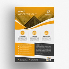 Yellow business brochure template Premium Psd. See more inspiration related to Brochure, Flyer, Business, Cover, Template, Leaf, Brochure template, Leaflet, Flyer template, Yellow, Stationery, Elegant, Corporate, Creative, Company, Modern, Corporate identity, Booklet, Document, Identity, Page and Fold on Freepik.