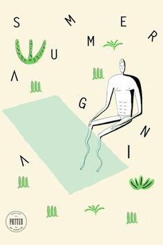 summer_again #illustration #wallpaper #patten #typography