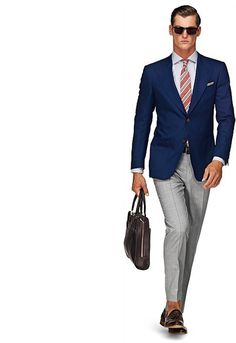 Jacket Blue Plain Washington Half C551 | Suitsupply Online Store #suit