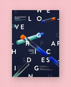 We Love Graphic Design #typography #poster #graphic #design #branding