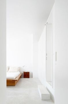 Kevin H. Chung #interior #white #bedroom #home #clean #bed
