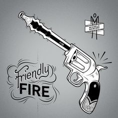 http://cargocollective.com/michelemarconi #vector #gun #design #graphic #illustration #vintage #type #typography