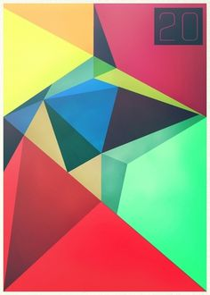 20 by *Xtean on deviantART #color #geometry #minimalism #typography
