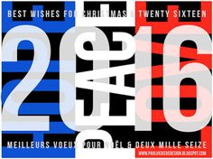 2016 New Year greeting, Hope Peace Love, 2016, Christmas/New year, Blue white red,