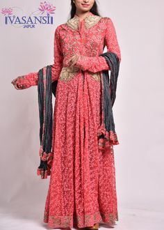 Vasansi Red Net Suit