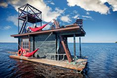 Floating Sauna Houseboat Saunalautta #sauna