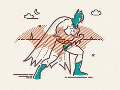Flat as a Bat #gotham #super #batman #hero #illustration #mask