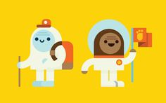 Bigs and Yeti for Facebook Stickers by Richard Perez