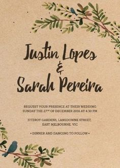 Rustic Garden - Wedding Invitations #paperlust #weddinginvitation #invitation #weddinginspiration #rustic #cards #paper #print