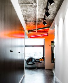 Contemporary Creative Office Space by IND Architects black white gray simplicity decor