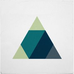 Three musketeers – A new minimal geometric composition each day #inspiration #illustration #triangle #design