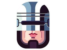 Dribble_robocop #illustration #robocop