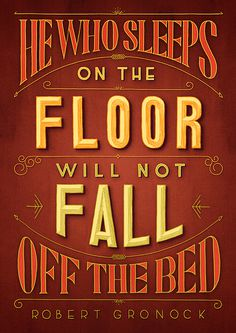 Lettering by Tobias Hall #lettering #sleep #floor #vintage #typography