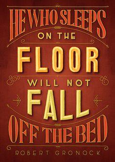 Lettering by Tobias Hall #lettering #sleep #floor #vintage #typography