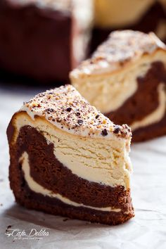 Chocolate Peanut Butter Cheesecake Cake made in the ONE pan! Creamy peanut butter cheesecake bakes on top of a fudgy chocolate cake for the