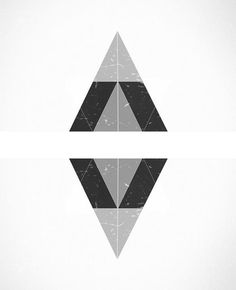 one of my designs #geometry #white #edges #black #triangles #grey