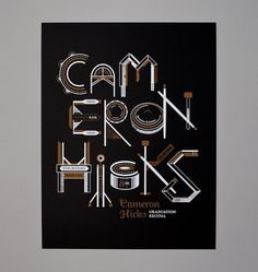 Work - Chris Burnett / Graphic Design & Typography #chris #design #burnett #poster #type #typography