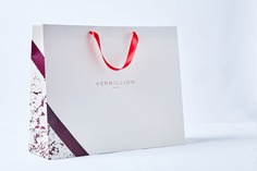 Vermillion Branding - Mindsparkle Mag Stitch Design Co. designed the branding for Vermillion – a clothing boutique located in Raleigh, North Carolina with a highly edited collection of sought-after designers including Isabel Marant, Balenciaga, Figue, Megan Park, and The Row. #logo #packaging #identity #branding #design #color #photography #graphic #design #gallery #blog #project #mindsparkle #mag #beautiful #portfolio #designer