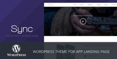 Sync - Mobile App Landing Page WordPress Theme