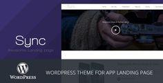 Sync - Mobile App Landing Page WordPress Theme