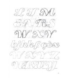 Eight Hour Day » Blog » The Best Thing I Saw Today • March 23, 2011 #young #donald #typeface #pencil #eclat #sketch