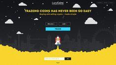 LazyCoins landing page #page #ux #design #ui #illustration #web #landing