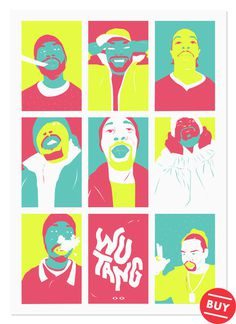 Wu Tang Clan portrait print available at Society 6
