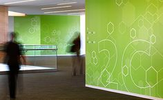 Novo Nordisk North American HQ. Designed by Poulin + Morris / www.enviromeant.com #graphics #wall