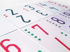 All work and no play ... on the Behance Network #minimalistic #design #graphic #playing #colorful #colors #numbers #cards